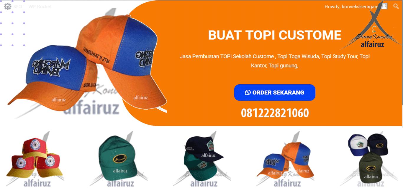 bikin topi sekolah di Tangerang