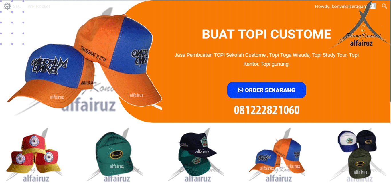 Jual Topi Sekolah Custome
