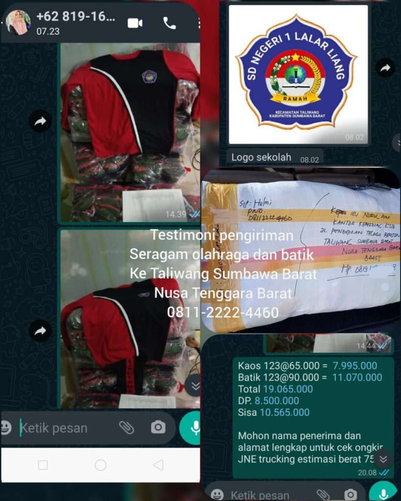 testimoni seragam olahraga SD N 1 Taliwang